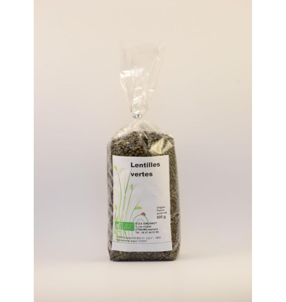 Lentilles vertes 500 gr
