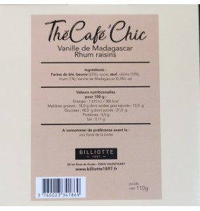 Thé Café Chic Vanille de Madagascar Rhum raisin