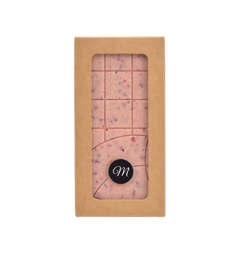 tablette chocolat blanc & framboises