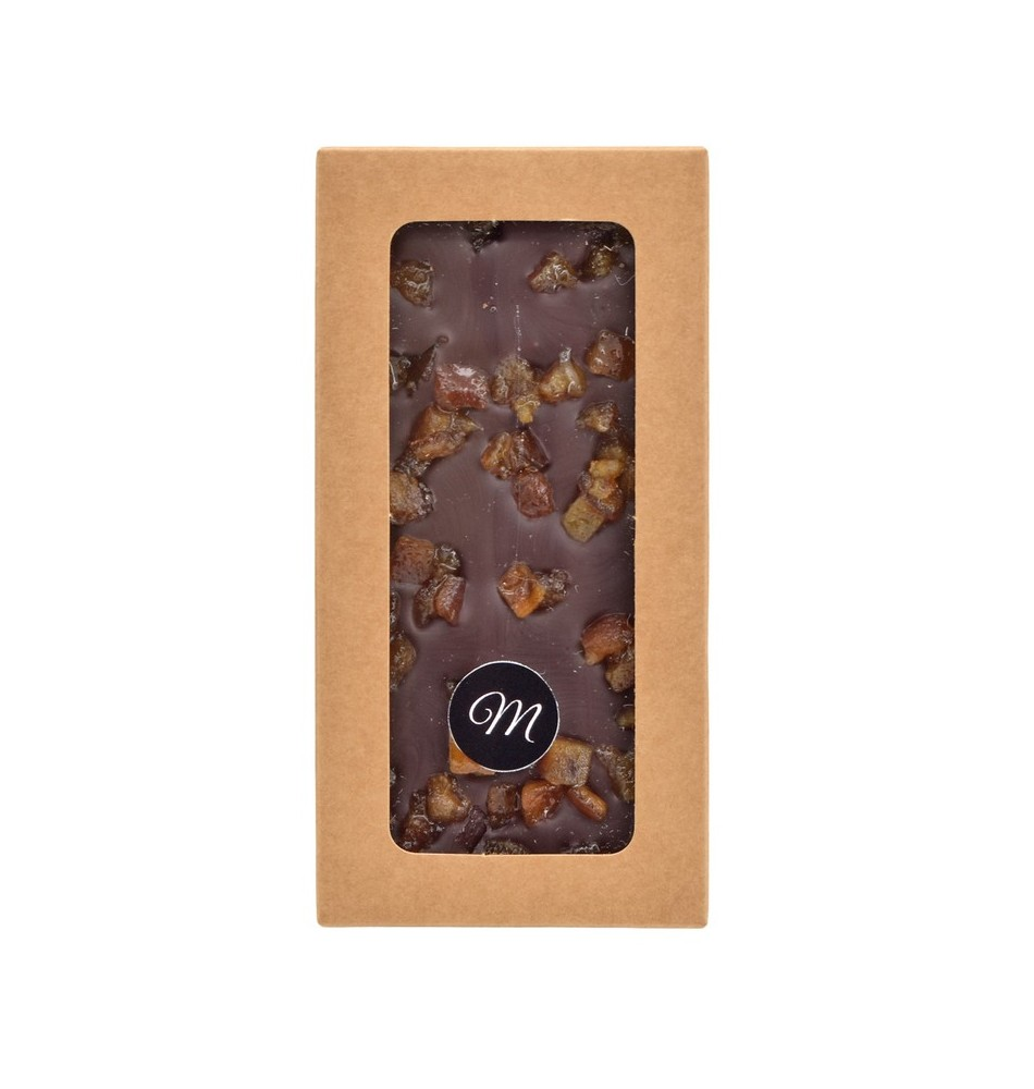 Tablette chocolat noir & orange confite