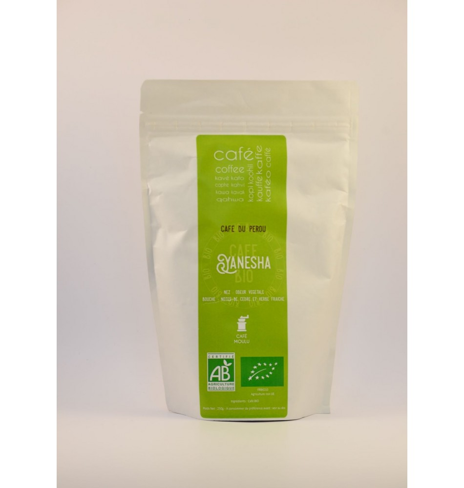 Café  moulu BIO Yanesha 250 gr