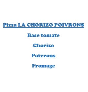 Pizza LA CHORIZO POIVRONS