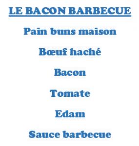 Hamburger LE BACON BARBECUE