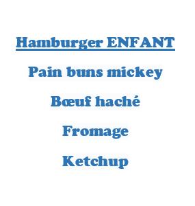 Hamburger ENFANT