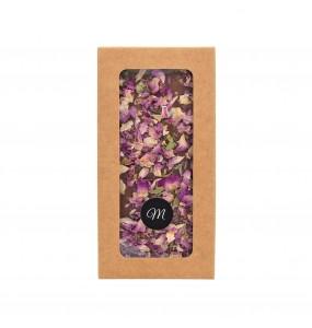 Tablette Chocolat et Pétales de roses