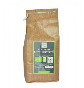 Farine de lentille verte bio et sans gluten